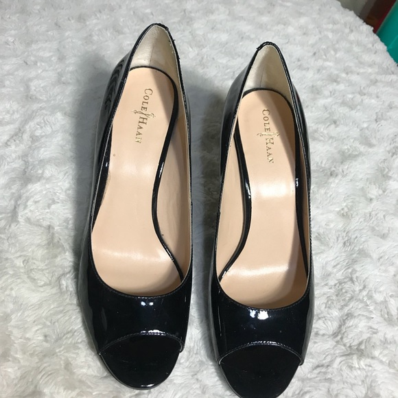 42616d3c47 Cole Haan Shoes | Nike Air Lainey Patent Peeptoe Pump | Poshmark